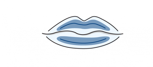 Lippenvolumenaufbau Illustration
